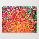 NEON SPLASH - WOW Intense Dash of Cheerful Color, Bold Water Waves Nature Lovers Modern Abstract  Canvas Print