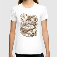 Zentangle Green Flower R… Womens Fitted Tee White SMALL