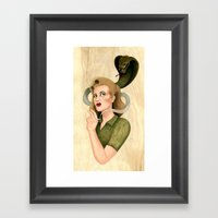 Cause of Death Framed Art Print
