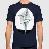 Dancing Stiff Mens Fitted Tee Navy SMALL