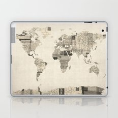 Map of the World Map from Old Postcards Laptop & iPad Skin