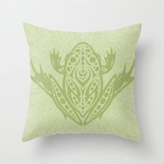 Tribal Leopard Frog Throw Pillow