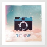 Shoot Forever Art Print