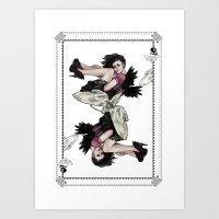 Queen of Wings Art Print