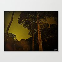 Blackened October Sunfal… Canvas Print