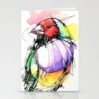 Red Lady Gouldian Finch Stationery Cards