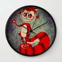 The Cat Appears! Wall Clock