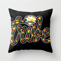 TRIBAL CHRONIC Throw Pillow