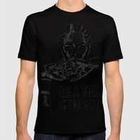 B&W Fashion Illustration… Mens Fitted Tee Black SMALL
