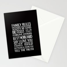 Family Rules Stationery Cards