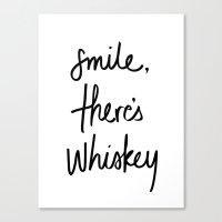 Smile - Whiskey Canvas Print