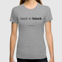 Black Womens Fitted Tee Tri-Grey SMALL