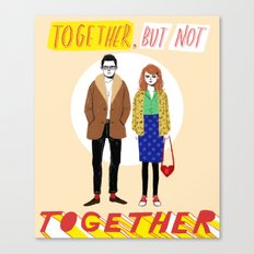 Together but not together Canvas Print