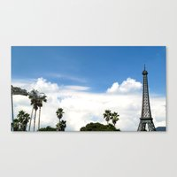 Age of Dinosaurs vs. La Tour Eiffel Canvas Print