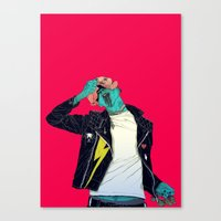 Removing the mask Canvas Print