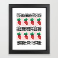 Abstract Strawberry Part… Framed Art Print