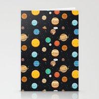 Cute solar system Stationery Cards