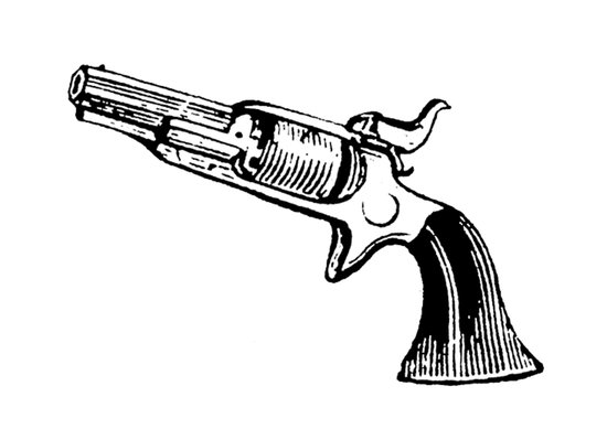 Vintage Revolver #5 Art Print