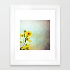Yellow Flowers 1 Framed Art Print