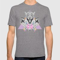 Wilderness Mens Fitted Tee Tri-Grey SMALL