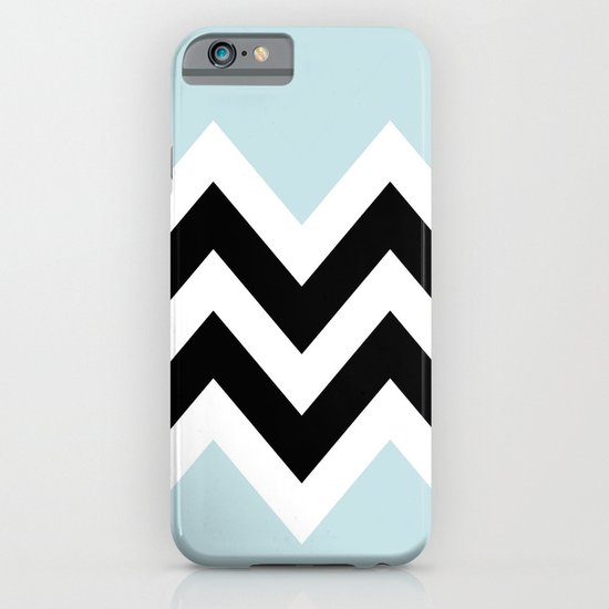 LIGHT BLUE COLORBLOCK CHEVRON iPhone & iPod Case