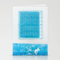 Two Blue Shuttered Windows Stationery Cards