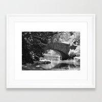 Central Park Stone Bridg… Framed Art Print