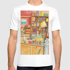 Book store SMALL White Mens Fitted Tee