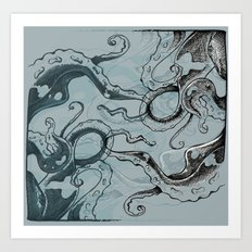 Even .. More .. TentacleS ..  Art Print