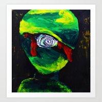 Bloody Cyclops Art Print