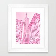 A Pink Empire Framed Art Print