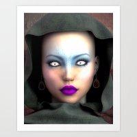 Ghost eyes Art Print