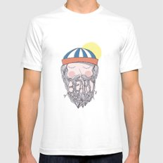 BEARD Mens Fitted Tee SMALL White