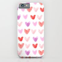 iPhone & iPod Case featuring Love Hearts by ems orlien