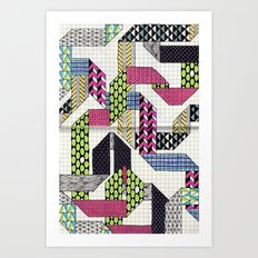 Ribbons with Patterns Art Print