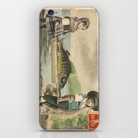 The April Fish - Vintage / Antique French Post Card - Piosson D'Avril - April Fools Day iPhone & iPod Skin