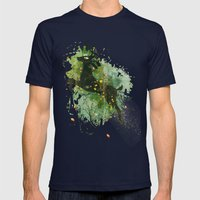 Burst of Nature Mens Fitted Tee Navy SMALL