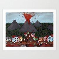 Volcanic Event Art Print