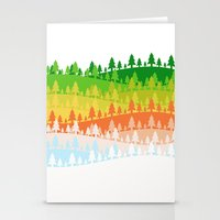 Trees. Stationery Cards