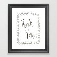 Thank You Framed Art Print