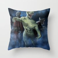 Midnight Stroll Throw Pillow