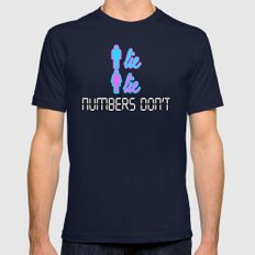 Men Lie, Women Lie, Numbers Don't Mens Fitted Tee Navy SMALL