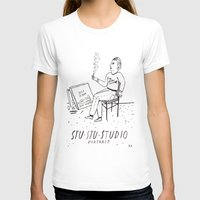 Stu-Stu-Studio Womens Fitted Tee White SMALL