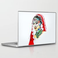 indian Laptop & iPad Skins featuring Indian by Cemile Demir Uzunoglu