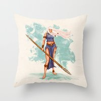 Rima The Jungle Girl Throw Pillow