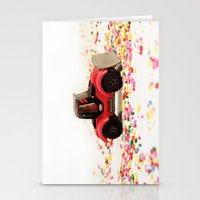 Candy Land Construction Stationery Cards