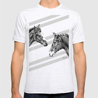 Foal Friends Mens Fitted Tee Ash Grey SMALL