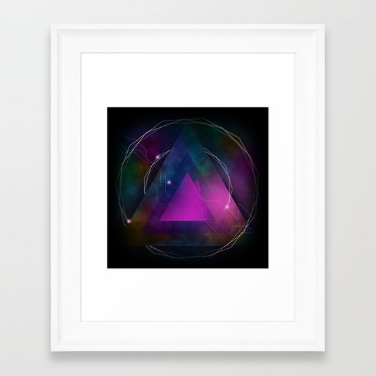 Retro Futurdelic Framed Art Print