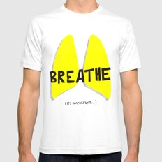 Breathe. A PSA for stressed creatives. Mens Fitted Tee White SMALL