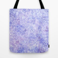Lavender and white swirls doodles Tote Bag